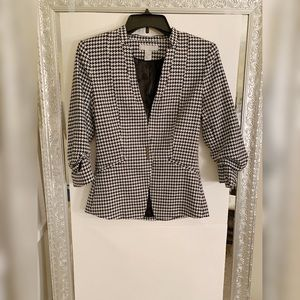 Black and white blazer